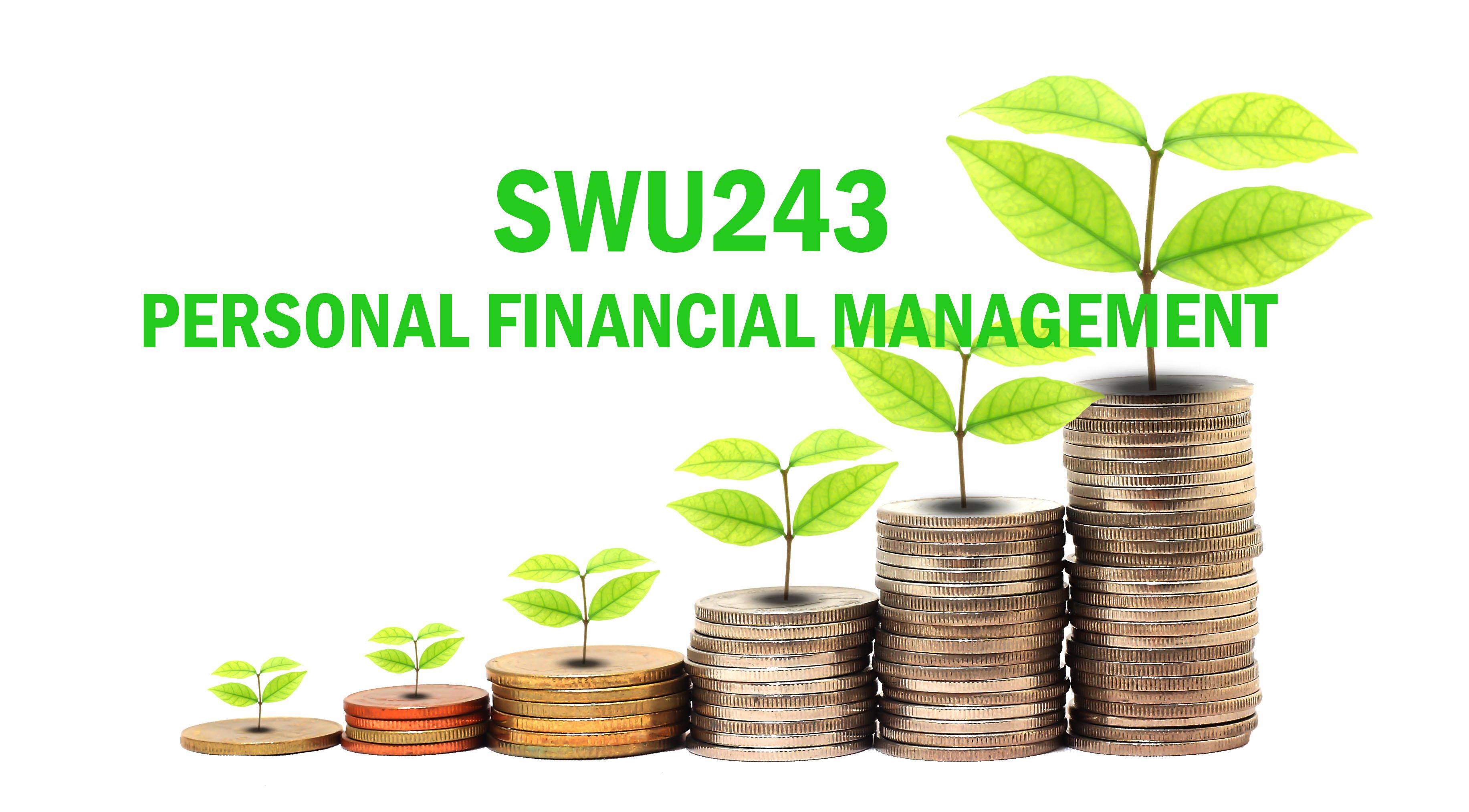 [Online Learning] 1/64 SWU243 การจัดการทางการเงินส่วนบุคคล