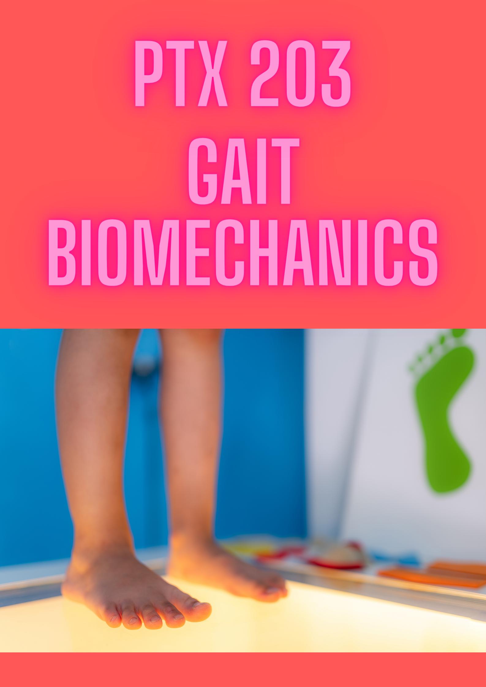 PTX 203 Gait Biomechanics