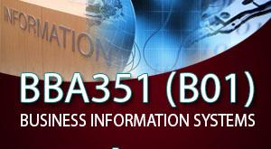 ระบบสารสนเทศทางธุรกิจ (บธบ 351) B01